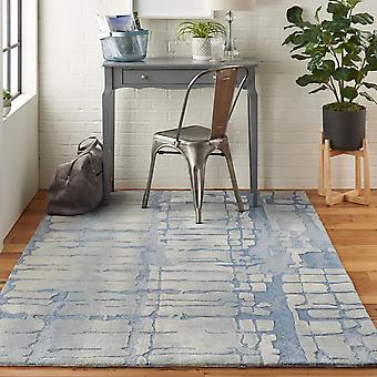 Simetría SMM04 rectángulo gris azul alfombras alfombras Funky
