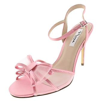 Nina Womens Charm Fabric Open Toe Special Occasion Slingback Sandals