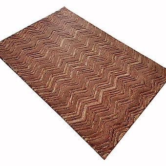 Rugs -Wool Design - Herringbone Brown
