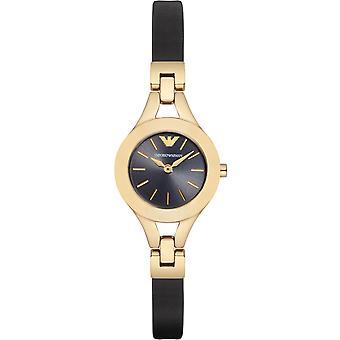 Emporio Armani Ar7405 chiara cinturino in pelle nera orologio da donna