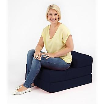 Baumwolltanne Fold Fold Single Z Bed Futon-Navy