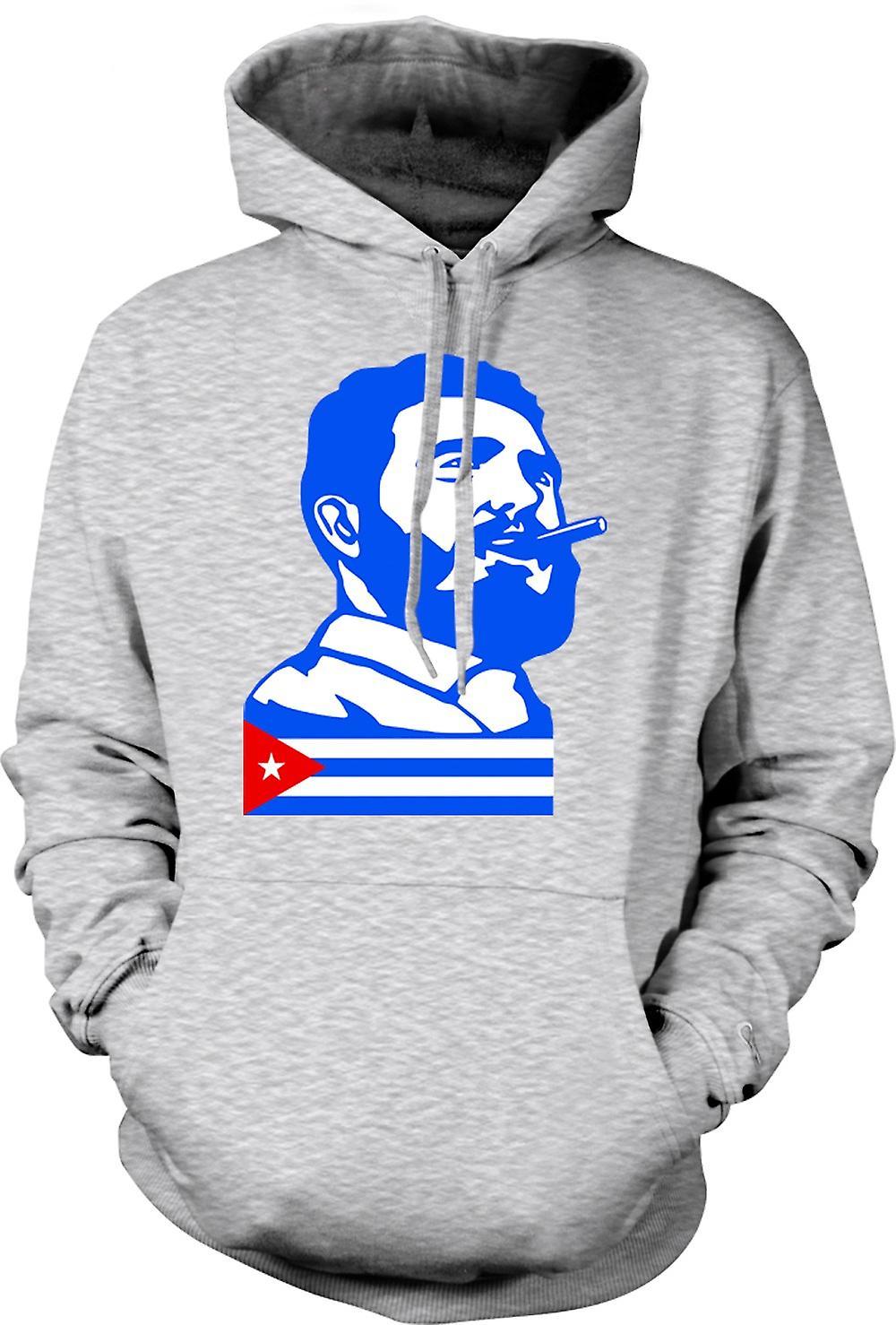 Mens hettegenser - Fidel Castro - Cuba