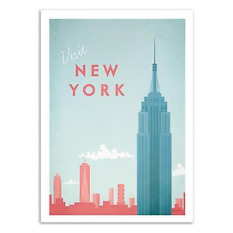 Art-affisch-besök New York-Henry Rivers 50 x 70 cm