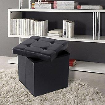 Cube Bench/Pouf with storage-38 x 38 x 38 cm-Synthetic leather