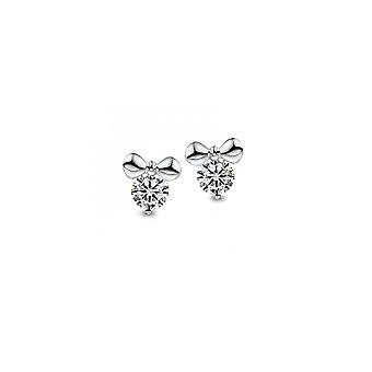 Earrings Knot adorned with White Swarovski Crystals