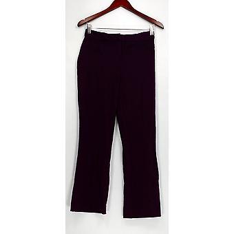 Susan graver vrouwen ' s Petite broek Ponte brei zip front boot paars A283887