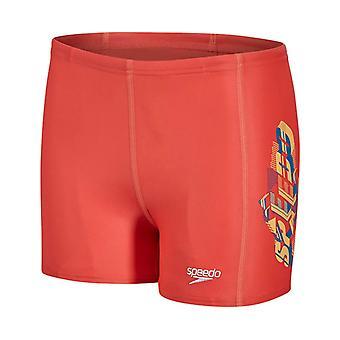 Speedo Sports placement Kids Boys zwemmen Aquashort water kort rood