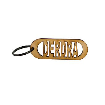 Key chain - derdra - raw wood