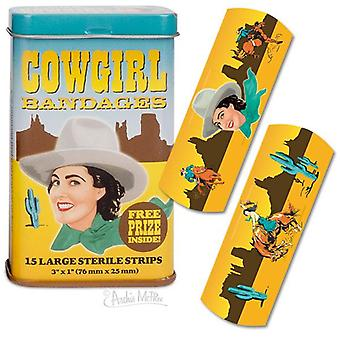 Character Goods - Archie McPhee - Bandage - Cowgirl w/Tin 12616