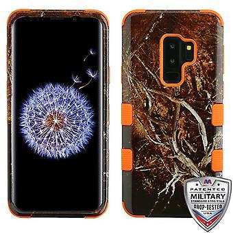 MYBAT Yellow/Black Vine/Orange TUFF Hybrid Phone Protector Cover for Galaxy S9 Plus