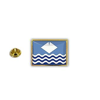 Pins Pin Badge Pin's Metal Broche Drapeau Anglais Royaume Uni Ile De Wight