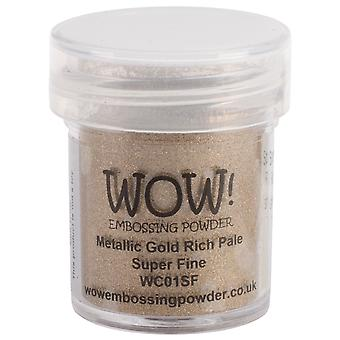 Wow! Embossing Powder Super Fine 15Ml Gold Rich Pale Wow Sf Wc01