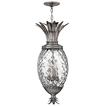 Plantation Traditional 4 Arm Lantern with Pineapple Shaped Glass