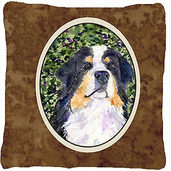 Bernese Mountain Dog Decorative   Canvas Fabric Pillow
