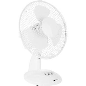 Desk fan Basetech 20 W (Ø x H) 27 cm x 36 cm White