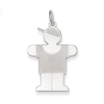 Sterling Silver Hugs Kid Charm - 1.0 Grams