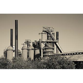 Hornos Sloss monumento histórico nacional 19 finales a mediados del siglo XX blast horno Birmingham Alabama USA Poster Print