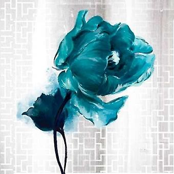 Exquisite Spring Turquoise Tulip Poster Print by  Art Atelier Alliance