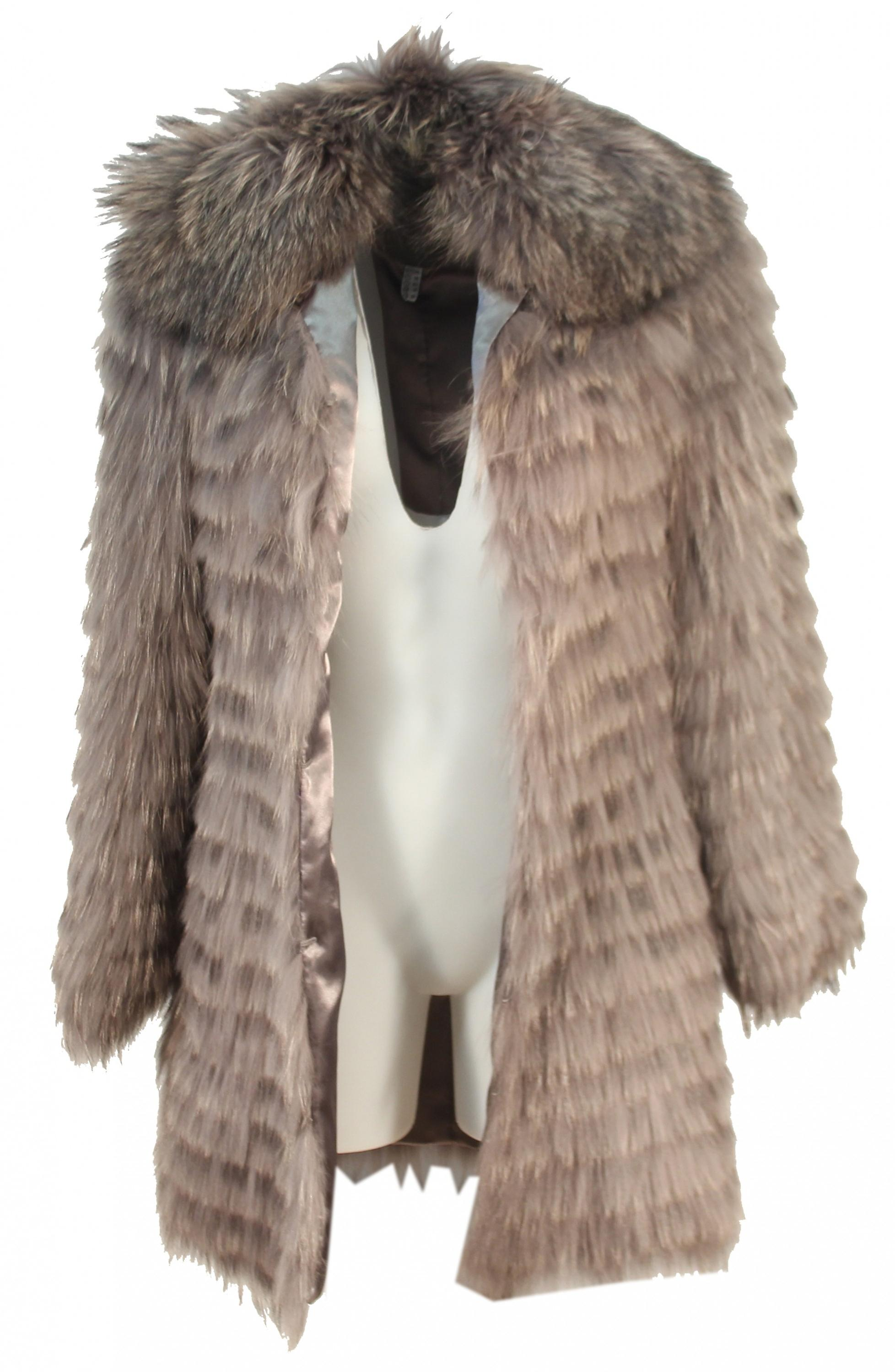 Finola - high-quality fur coats for women rabbit fur rabbit Brown grey beige