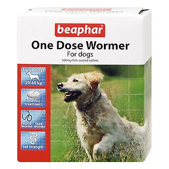 Beaphar perros hasta 40kg una dosis Wormer 4 tabletas (paquete de 6)