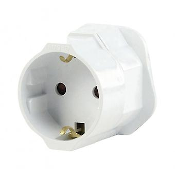 Fixapart Travel Adapter Europe-to-UK Grounded