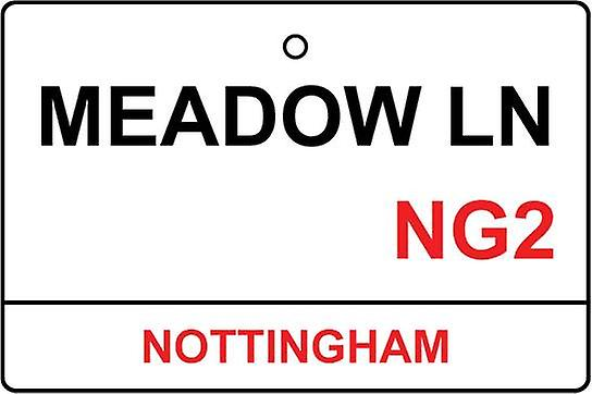 Nottingham / Meadow Lane Street Sign Auto-Lufterfrischer