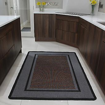 Sort & grå Sisal moderne Mat Panama