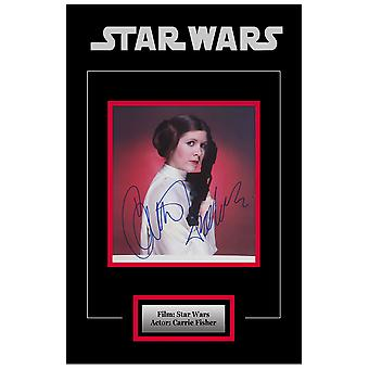 Star Wars - Signed Carrie Fisher as Princess Leia Movie Photo - Framed Artist Series