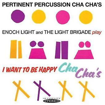 Enoch Light y la brigada ligera - pertinente percusión Cha Chas y quiero ser feliz [CD] USA importar