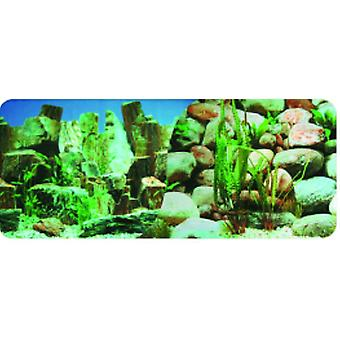 Wuapu Double Aquarium Poster 40Cm Stones (Fish , Decoration , Backgrounds)