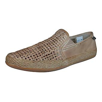 Base London Stage Weave Mens Leather Shoes / Loafers - Tan