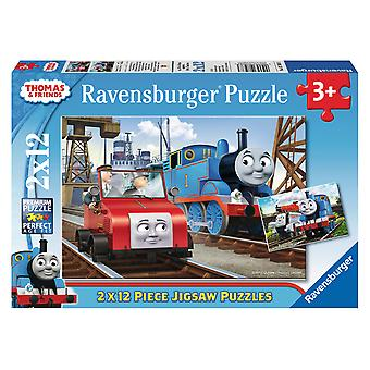 Ravensburger Thomas&Friends Puzzle Doble 12 Piezas (Toys , Preschool , Puzzles And Blocs)