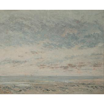 Gustave Courbet - Low Tide at Trouville Poster Print Giclee
