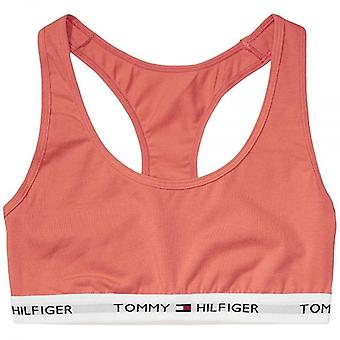 Tommy Hilfiger Women Iconic Cotton Bralette, Coral, Large