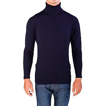 Valentino mænds Turtleneck Sweater Mørk Navy blå