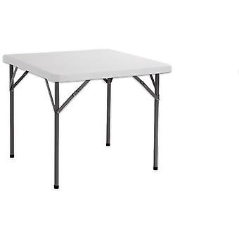 Ldk Folding square table hdpe white 87x87x74 cm