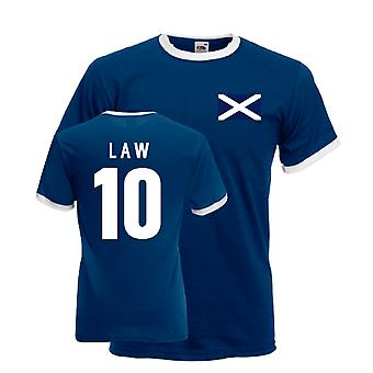 Dennis Law Scotland Ringer Tee (navy)