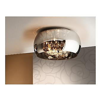 Schuller Argos Shimmered Oval Glass Shade Ceiling Light