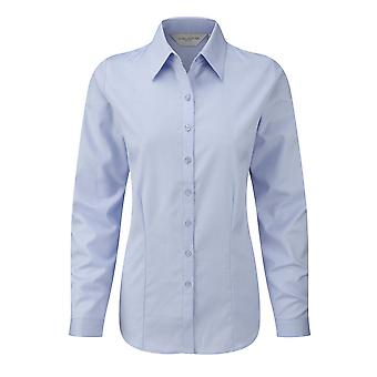 Russell Ladies/Womens Herringbone Long Sleeve Work Shirt