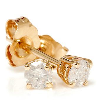 3 / 4ct Diamond pigger 14K gult gull