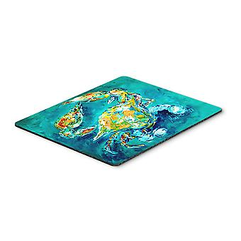 By Chance Crab in Aqua blue Mouse Pad, Hot Pad or Trivet