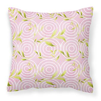 Gemoetric Circles on Pink Watercolor Fabric Decorative Pillow