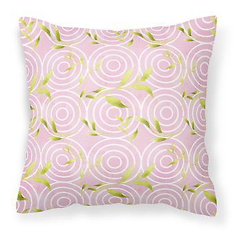 Gemoetric sirkler på rosa akvarell stoff Dekorative Pillow