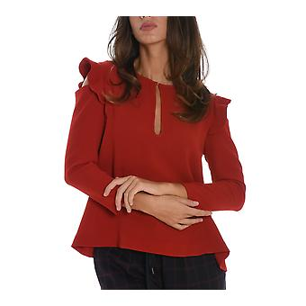 Suoli ladies S2612014379 red polyester sweaters