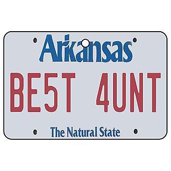 Arkansas - Best Aunt License Plate Car Air Freshener