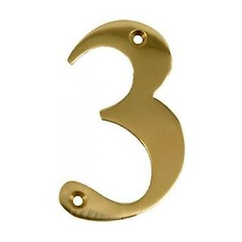 UAP House Door Numerals Numbers - Gold Number 3