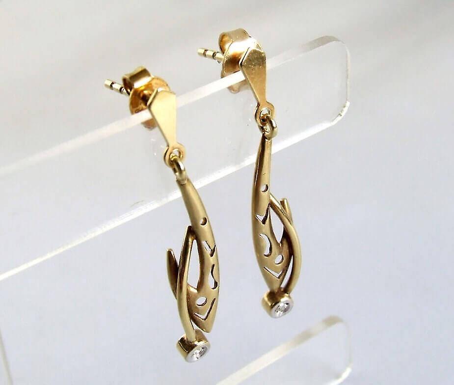 Gouden oorbellen met zirkonia