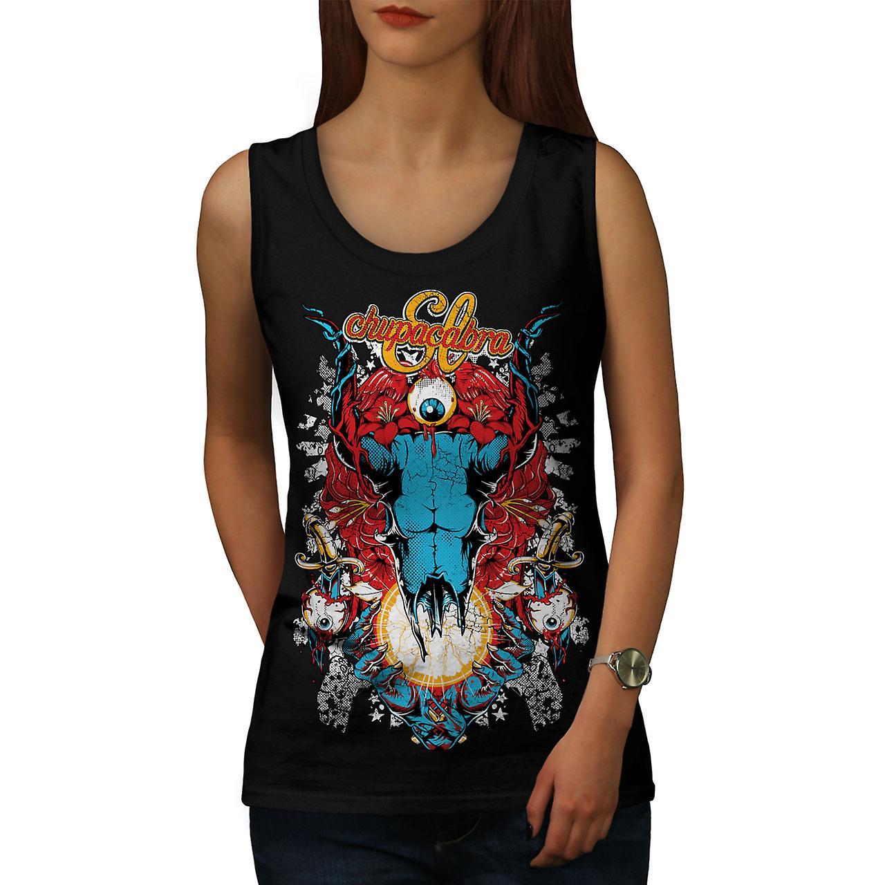 Eye Monster Horror vrouwen BlackTank Top | Wellcoda