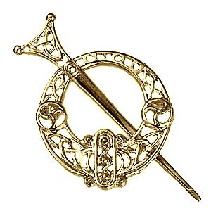 9ct Gold 39x42mm Tara filigree Brooch