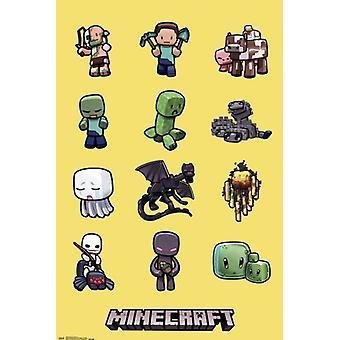 Minecraft-حروف طباعة ملصق